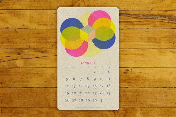 Paper Pusher Risograph Calendar
